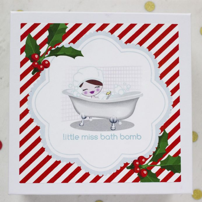 Empty Festive Bath Fizzy Gift Box